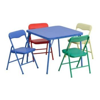 Flash Furniture Kids Colorful Folding Table and Chair Set