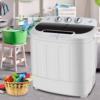 SUPER DEAL Portable Mini Tub Washing Machine