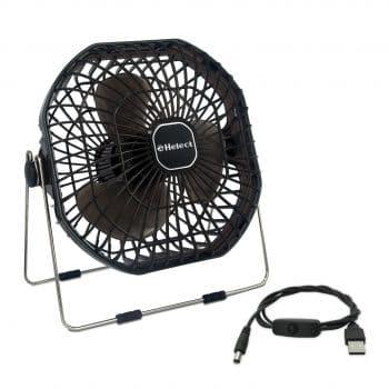 Helect 7-Inch Frame Mini USB Desk Personal Fan