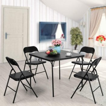 JAXPETY 5-Piece Folding Table and Chairs Set