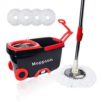 Moppson Spin Mop and Bucket Floor Cleaning System