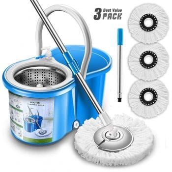 Aootek Upgraded Stainless Steel Spin Mop and Bucket