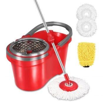 HAPINNEX Spin Mop Bucket Set