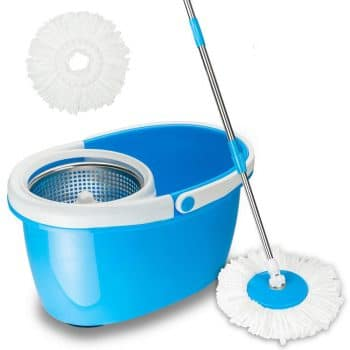Valuebox Spin Mop with Stainless Steel Bucket