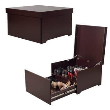 Organizedlife High-Capacity Shoe Box Cabinet with Drawer Modern