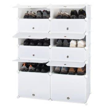 Honey Home Plastic Shoe Cabinet with Doors