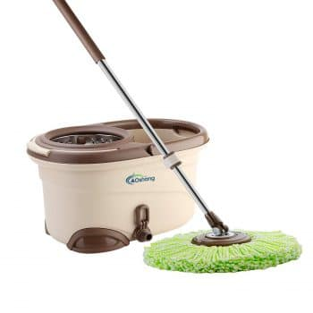 oshang EasyWring Spin Mop and Bucket