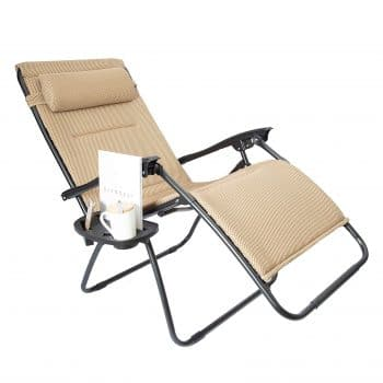 LUCKYBERRY Oversize Zero Gravity Chair