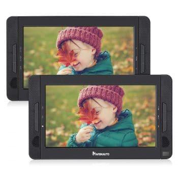 "NAVISKAUTO 10.1"" DVD Player, 5 Hours Rechargeable Battery"