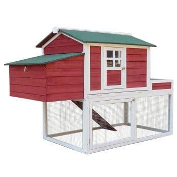 PawHut Wooden Chicken Coop