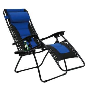 PHI VILLA Padded Zero Gravity Chair