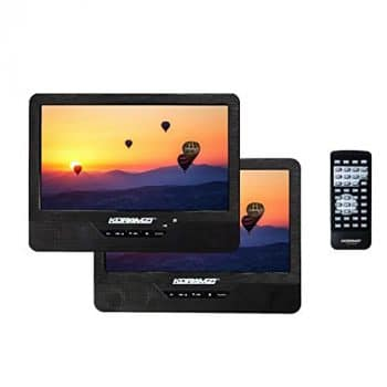 Koramzi PDVD-DK95 DVD Player with a Rechargeable Battery and a Headrest Mounting Kit