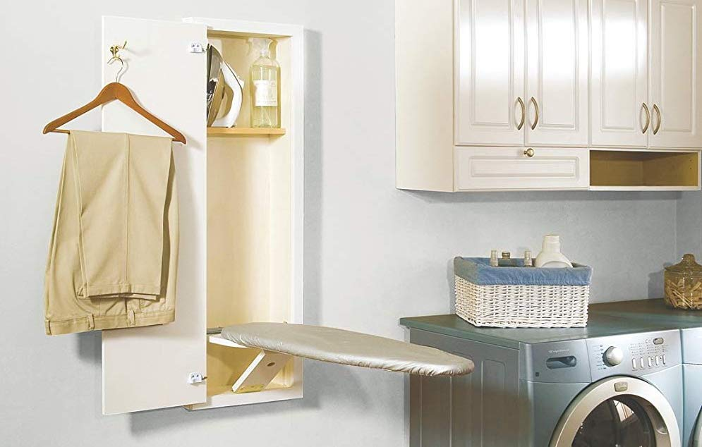 with Blackboard UStyle Ironing Board Center Wall Mounted Storage Cabinet Foldable with Mirror//Blackboard