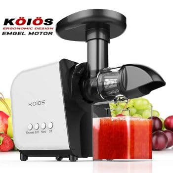 KOIOS Juicer, Slow Masticating Juicer Extractor with Reverse Function