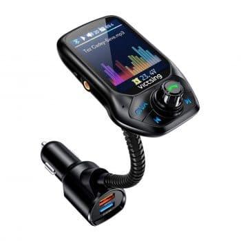 VicTsing (Upgraded Version) Car Bluetooth FM Transmitter