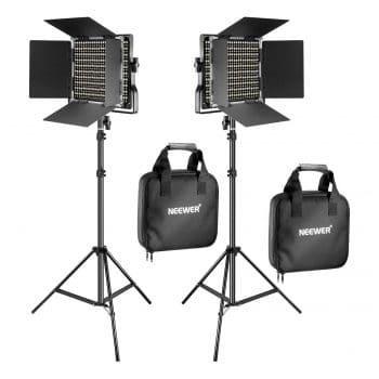 Neewer 2 Pieces Bi-Color LED Video Kit
