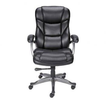 Staples 923523 Osgood Black Bonded Leather Manager's Chair