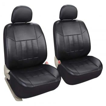 Leader Accessories Auto 2 Leather Black Seat Covers
