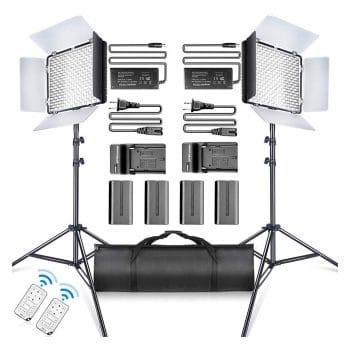 SAMTIAN LED Video Light Kit