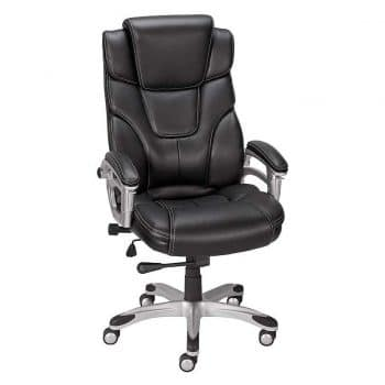 Staples 937975 Baird Black Bonded Leather Office Chair
