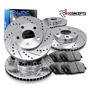eLine Drilled Slotted Brake Rotors & Ceramic Pads