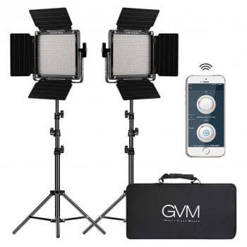 GVM 2-Pack LED Video Lighting Kit