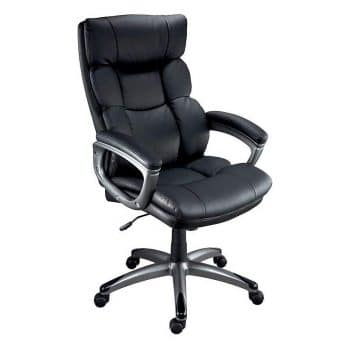 Staples 69022 Burlston Black Luxura Faux Leather Office Chair