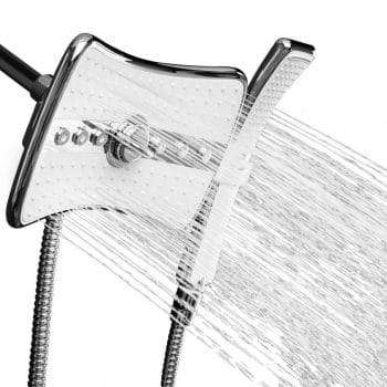 "AKDY 9"" Quad Function Rainfall Showerhead"