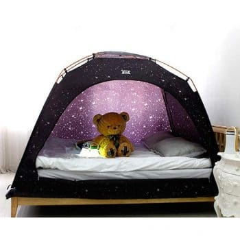 CAMP 365 Child's Indoor Privacy and Play Tent on Bed