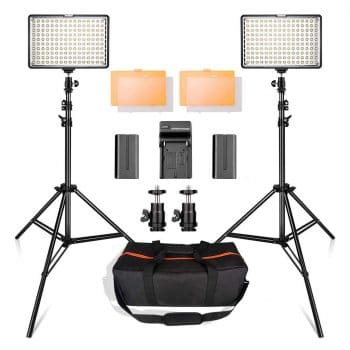 LED Video Light Kit with 2M Light Stand