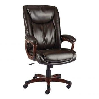 Staples 2263720 Westcliffe Brown Bonded Leather Office Chair
