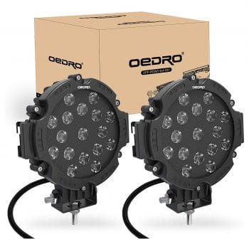 OEDRO 7 Inch Round Spot Lights- 2Pcs