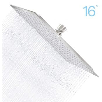 Derpras 16-Inch Square Rain Shower Head