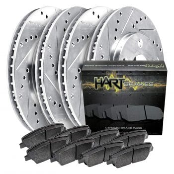 PLATINUM Hart Drilled Slot Brake Rotor and Pads