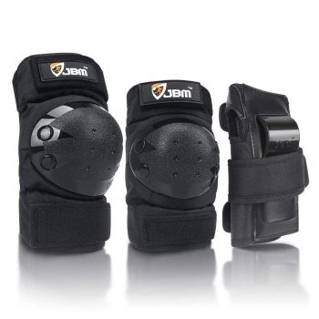 JBM international Adult/Child Knee Pads with Elbow Pads & Wrist Guards (3-in-1)
