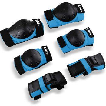 LIKIQ 3-in-1 Kids/Adults Knee Pad plus Elbow Pads & Wrist Guards