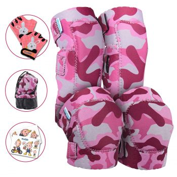 Simply Kids Innovative Soft Kids Knee pads with Elbow Pads & Bike Gloves