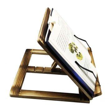 PrettyWit Wooden Book Stand Holder