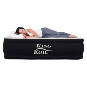 King Koil Queen Inflatable Airbed w/ Inbuilt Pump
