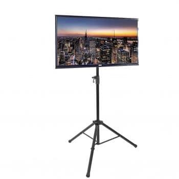VIVO Black Tripod TV Display Floor Stand