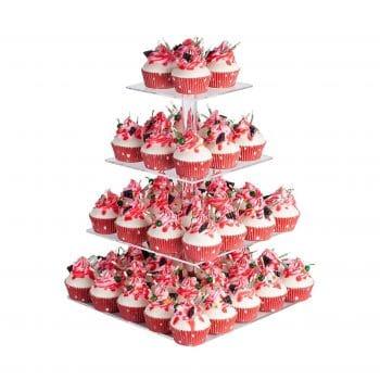 YestBuy 4 Tier Acrylic Cupcake Display Stand