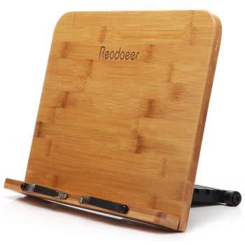 Moodaeer Reodoeer Bamboo Book Stand Holder
