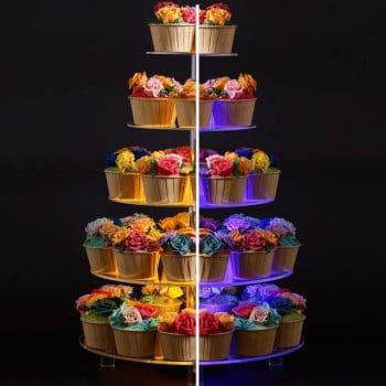 BonNoces 5 Tier Round Cupcake Stand