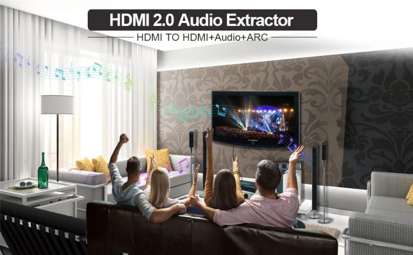 HDMI Switch with Audio Extractor