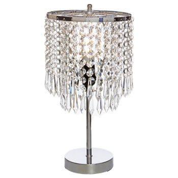 POPILION Bedside Crystal Table Lamp