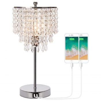 Seaside Village Touch Control Crystal Table Lamp
