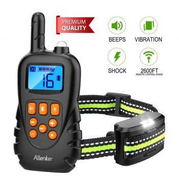 Allender Dog Shock Collar with Remote- Ideal for bark stopping and running correction