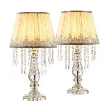Moooni Fabric Crystal Table Lamp
