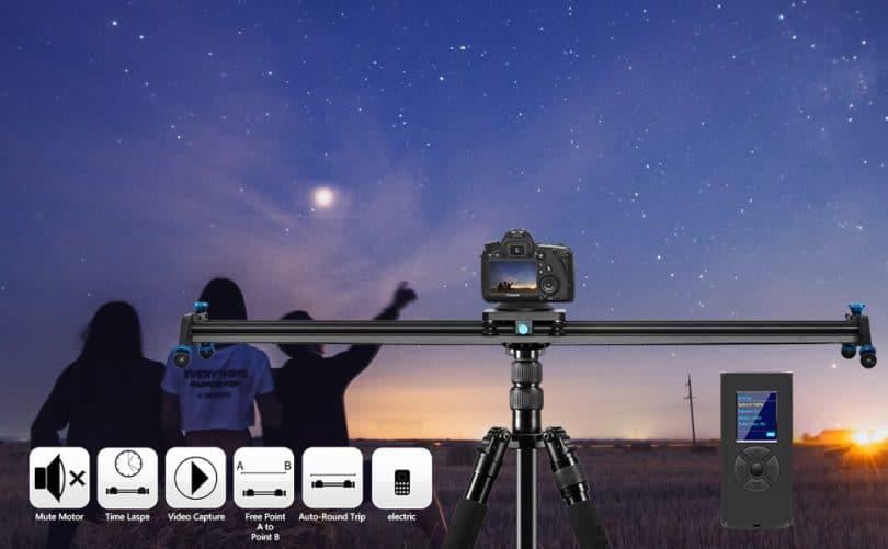 Gopro 23.6 inch Mobile Phone KONOVA P1 Series Carbon Camera Slider Dolly Parallax Panorama Shot for Camera 60cm Mirrorless with Bag DSLR