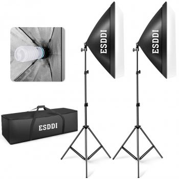 ESDDI Photography Lighting Softbox Kit